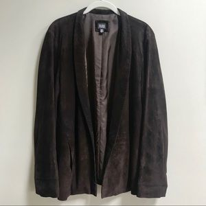Eileen Fisher Goat Suede Open Front Jacket Size L